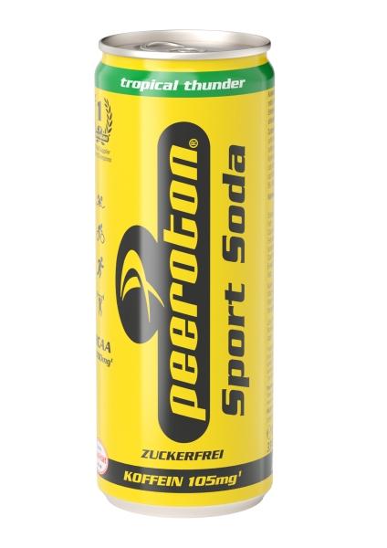 Peeroton Sport Soda Tropical Thunder 330ml sugarfree - zuckerfrei