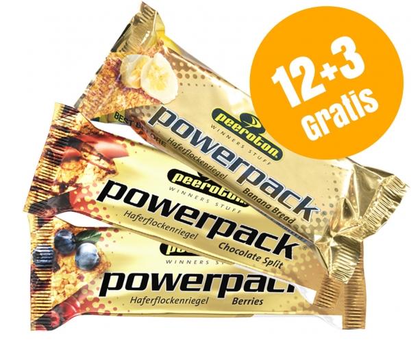 POWERPACK 3 Sorten 70g Mixkarton 12+3 Gratis