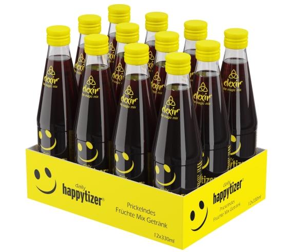 elexir Happytizer 330ml 12er Tray the magic Mix gelbe Kappe