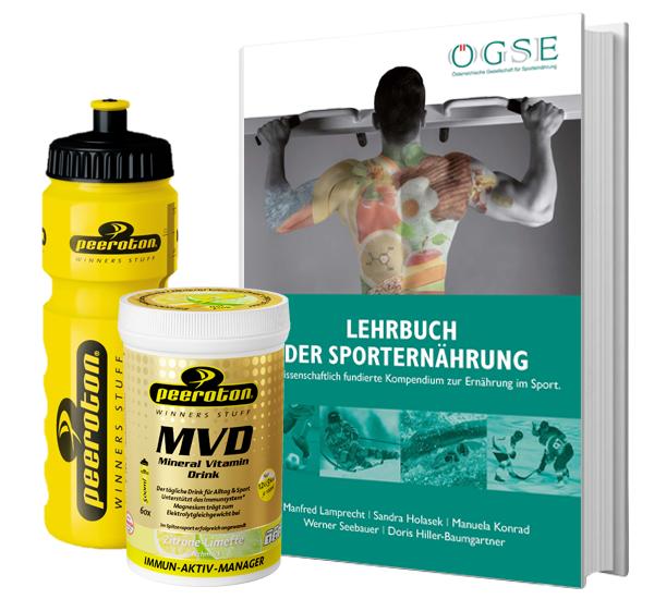 AKTION: Lehrbuch der Sporternährung inkl. MVD und Flasche