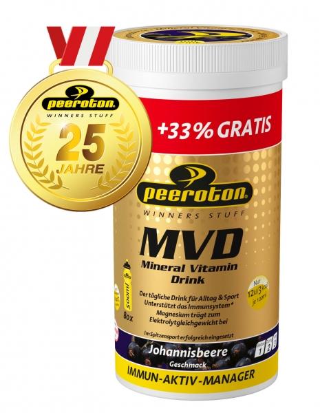 MVD Mineral Vitamin Drink 400g Jubiläums Edition Peeroton Johannisbeere
