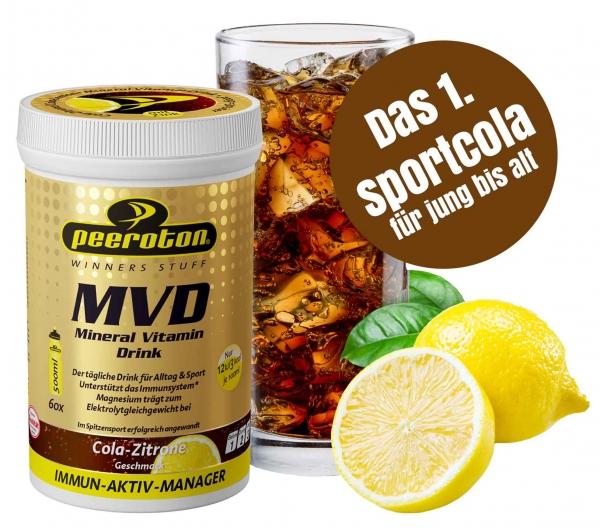 WIEDER VERFÜGBAR: MVD - Mineral Vitamin Drink Sportcola 300g Getränkepulver-Cola Zitrone