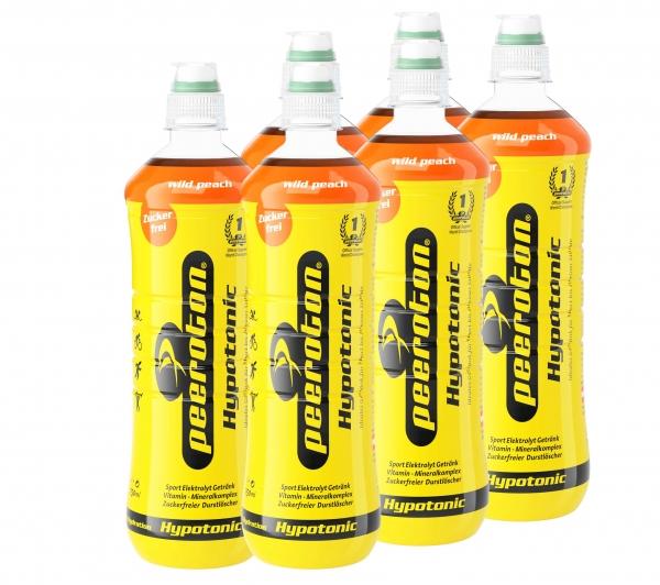 Peeroton Hypotonic Sportdrink Wild Peach 6x750ml Sixpack